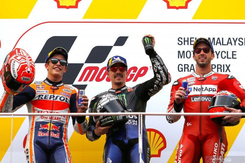 Hasil GP Malaysia, Vinales menang atas Marquez