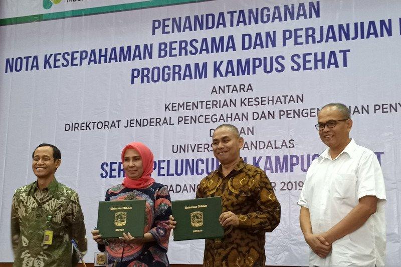 Kemkes RI dan Unand Padang luncurkan program kampus sehat