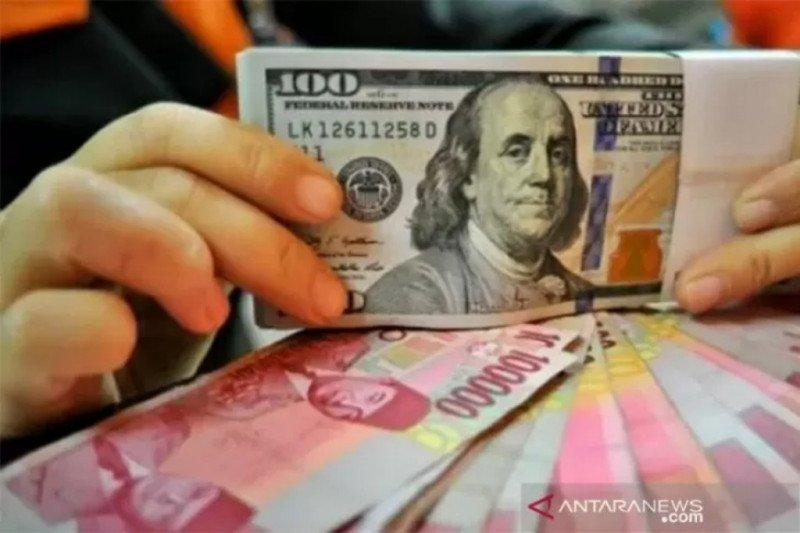 Rupiah melemah menjelang pengumuman hasil rapat Bank Indonesia