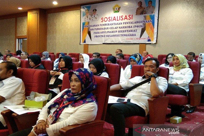 BNN sosialisasikan P4GN pada ASN lingkup Sekretariat Provinsi Sultra