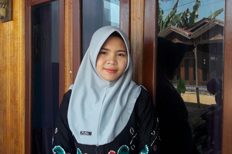 Khalifatur Radiah, guru TK Harapan Masa Desa Habau Kabupaten Tabalong