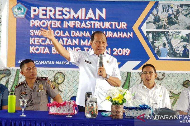 Wali Kota; Pengelolaan dana swakelola di Bitung harus sejahterakan masyarakat