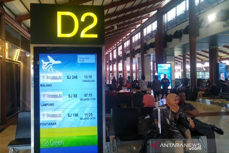 Tidak ada pesawat, sejumlah penerbangan Sriwijaya dibatalkan