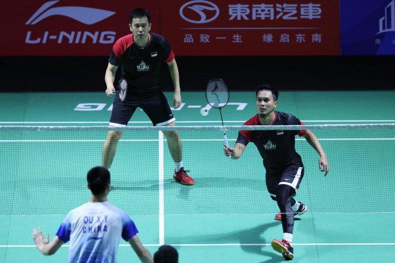Ahsan/Hendra dihentikan Aaron/Soh di perempat final Fuzhou China Open 2019