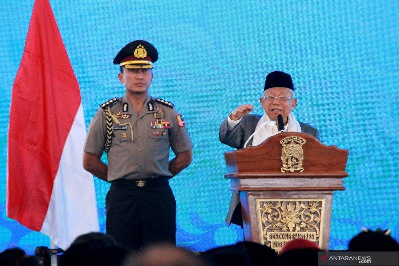Prilaku intoleran serta radikal hambat tercapainya Indonesia maju, kata Ma'ruf Amin