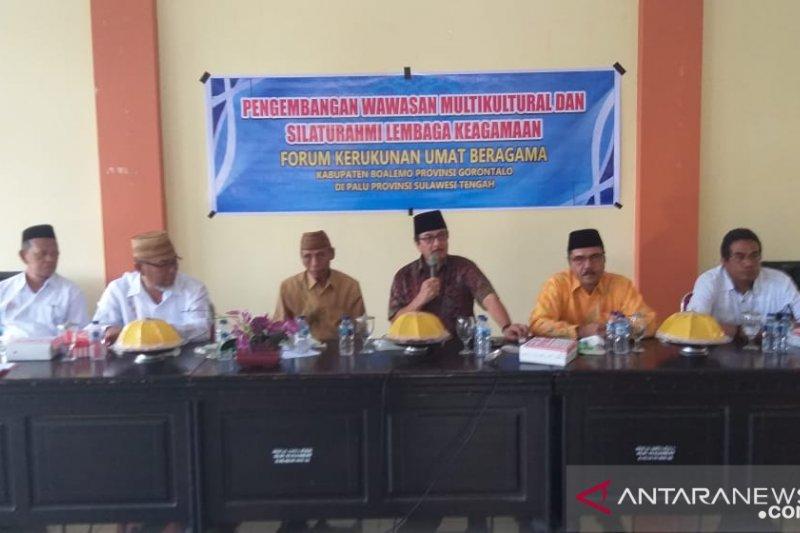 FKUB Gorontalo pelajari peningkatan kualitas kerukunan antaragama di Sulteng