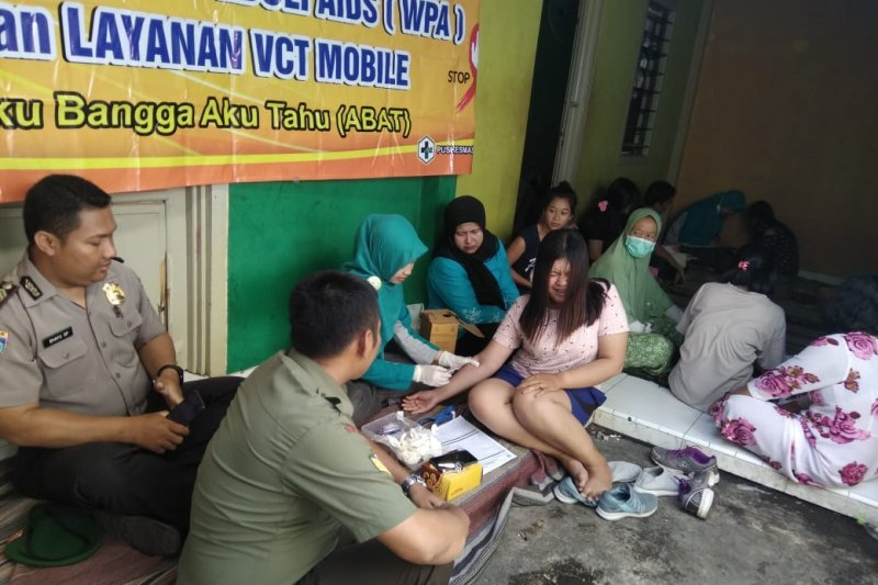 """Puluhan penghuni indekos di Jepara jadi sasaran """"screening"""" tes HIV"""