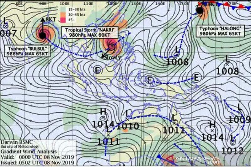 Tiga badai pengaruhi cuaca di wilayah Jateng bagian selatan
