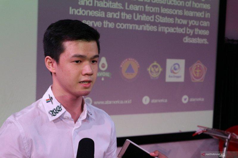 Siswa SMA memperkenalkan aplikasi untuk bantuan bencana