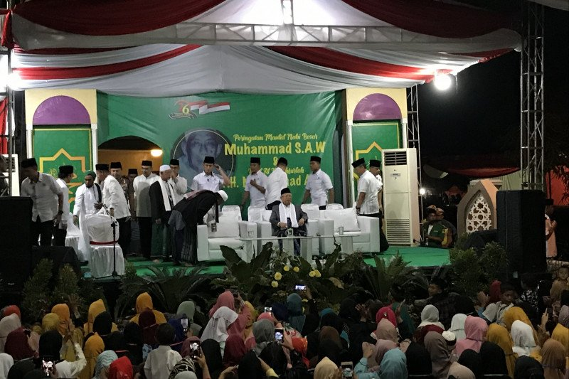 Wapres Ma'ruf peringati Maulid Nabi di Kresek, Tangerang