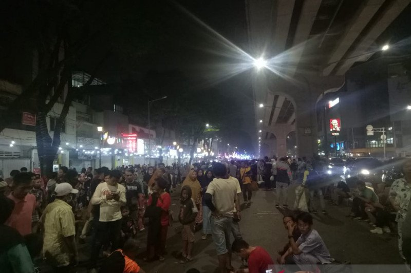 Pedestrian Sudirman Palembang sudah tertata  kembali pasca penertiban