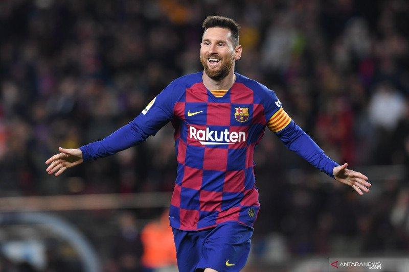 Messi antar Barcelona kembali ke puncak klasemen Liga Spanyol