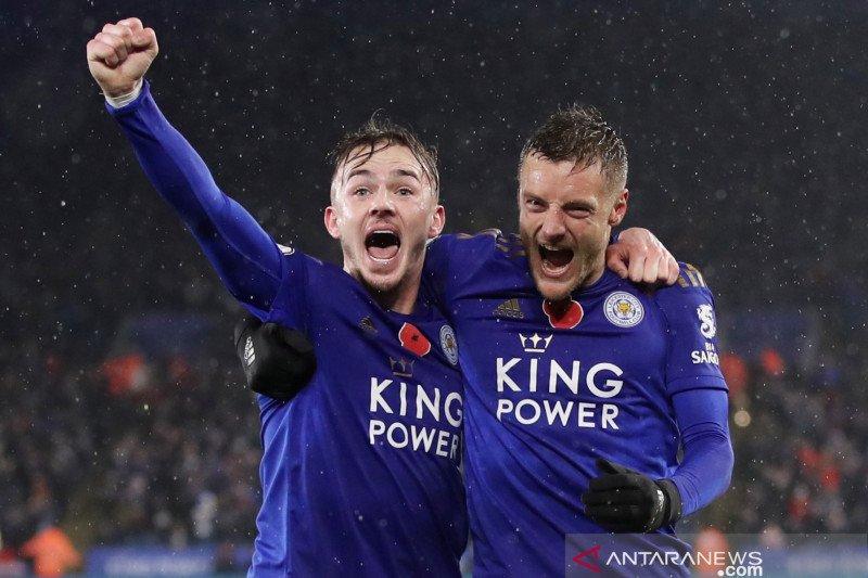 Bungkam Arsenal, Pemain Leicester enggan bahas gelar juara
