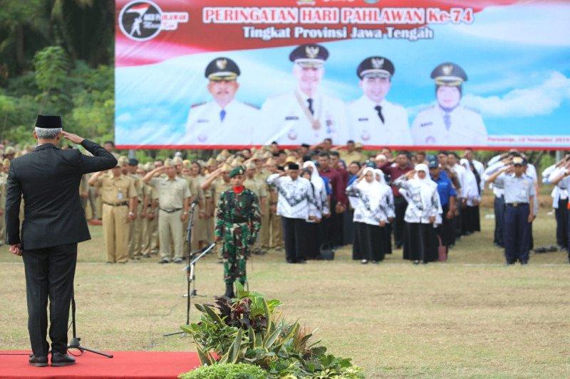 Jawa Tengah gelar upacara peringatan Hari Pahlawan di desa