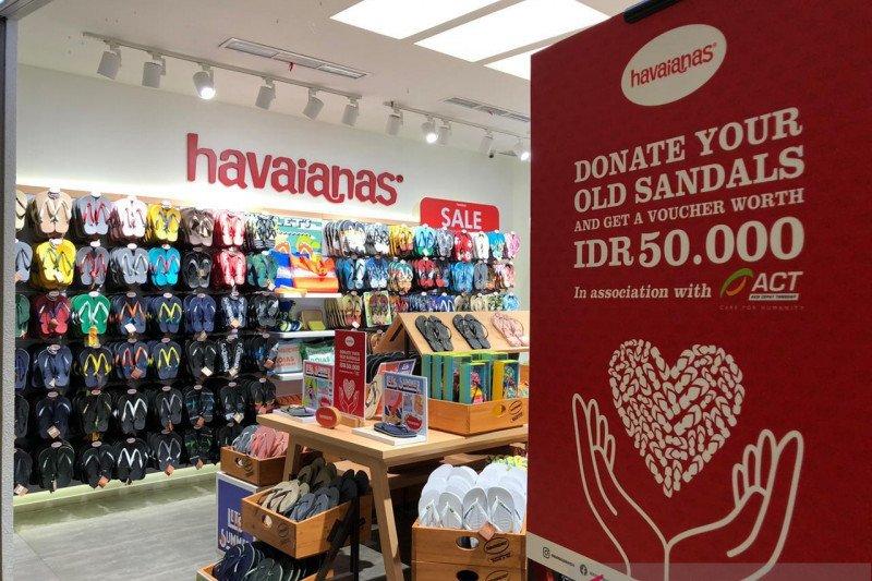 ACT-Havaianas kolaborasi kampanye donasi sandal layak pakai