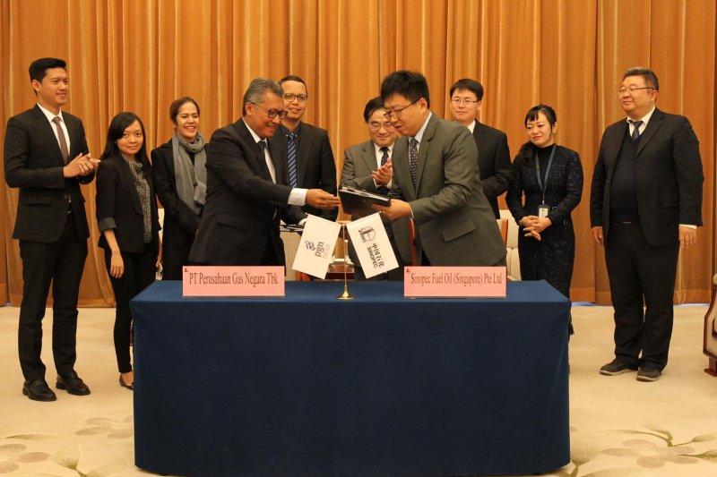 PGN dan Sinopec tandatangani perjanjian jual beli LNG