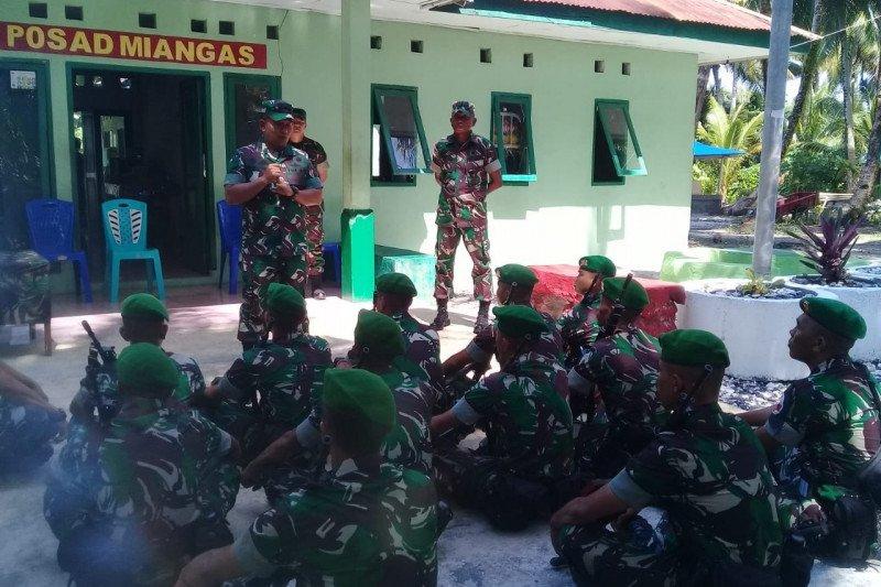 Kasdam XIII Merdeka tinjau pos TNI AD pulau terluar