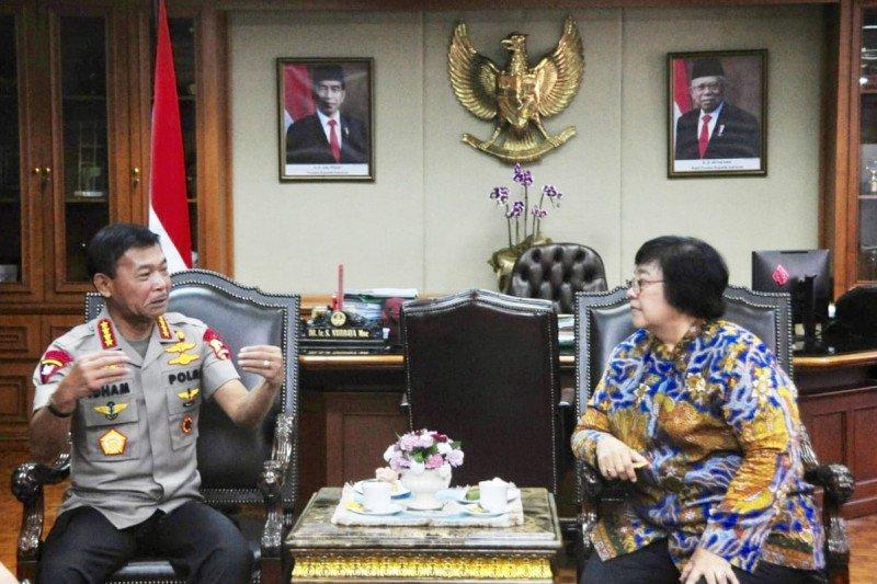 Kapolri temui Menteri LHK bahas pembalakan liar hingga kebakaran hutan