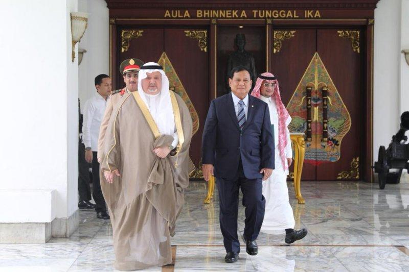 Menhan Prabowo terima kunjungan Dubes AS dan Dubes Arab Saudi