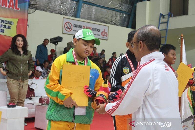 Jawa Timur juara umum Peparpenas, Sultra raih satu medali emas