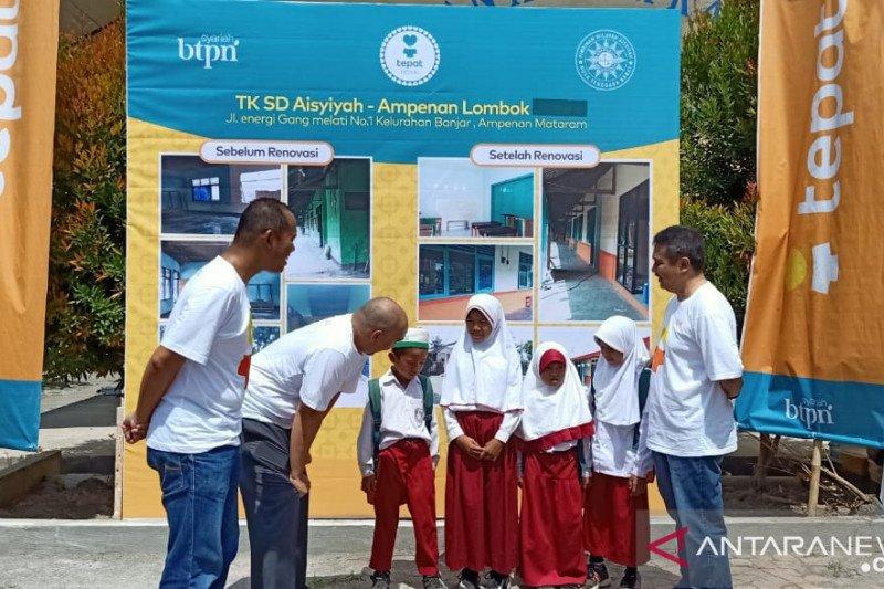 BTPN Syariah membantu sekolah terdampak gempa di Mataram