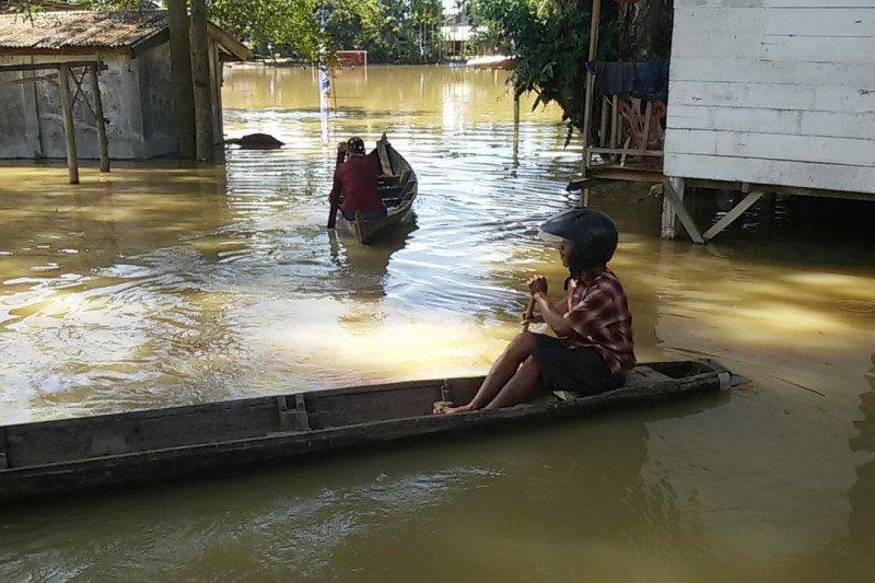 Banjir rendam 12 desa setelah  hujan 10 hari terakhir di Aceh Tamiang