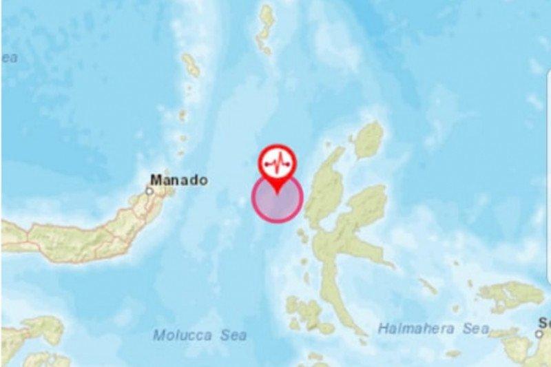 Gempa magnitudo 5,9 guncang barat laut Jailolo-Maluku Utara