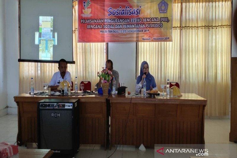 Dinsos Kota Kendari sosialisasi pengurangan risiko bencana dan Puskesos