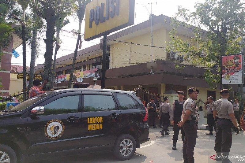 Ledakan di Polrestabes Medan, 1 anggota Kepolisian terluka