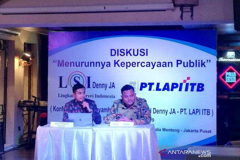 LSI: Kepercayaan publik atas lembaga negara turun efek Pilpres 2019