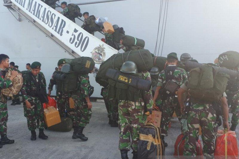 465 prajurit TNI Satgas BKO ditarik dari Papua Barat