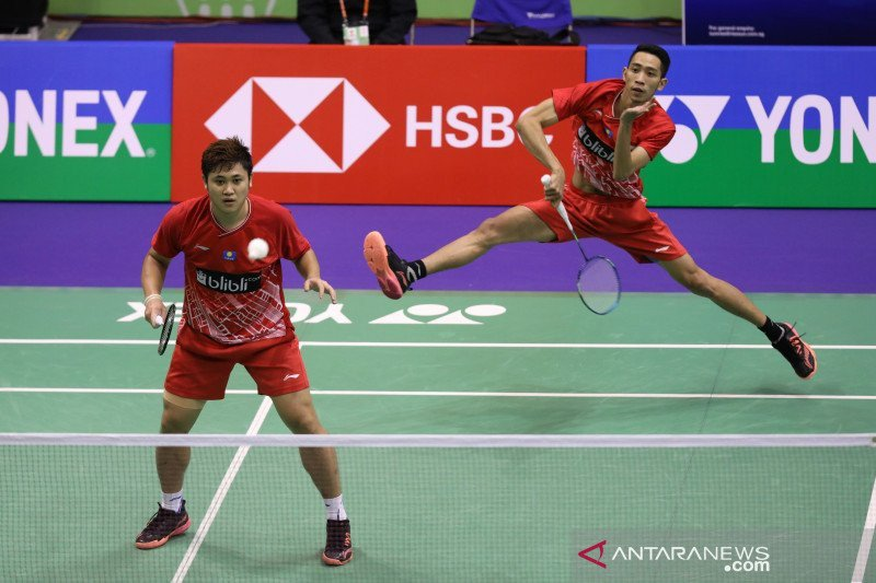 Indonesia raih emas bulu tangkis beregu putra, kalahkan Malaysia