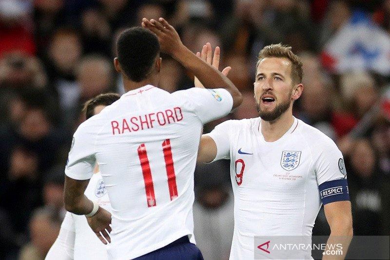 Inggris pesta 7 gol ke Montenegro untuk menuju putaran final