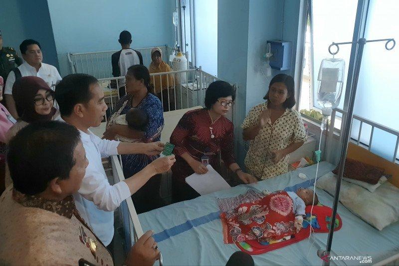 """Presiden Jokowi """"blusukan"""" di RSUD Abdul Moeloek sidak pemanfaatan BPJSK"""