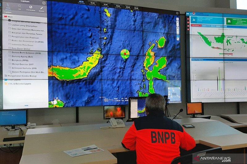 BNPB siap bantu pemda tangani korban gempa Maluku Utara
