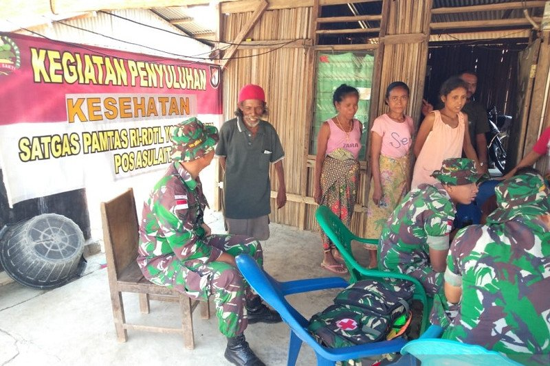 Penyuluhan kesehatan digelar prajurit TNI di perbatasan RI-Timor Leste