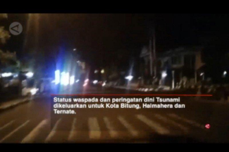 Video BPBD Ternate patroli  saat peringatan dini tsunami