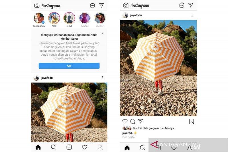 Instagram uji coba sembunyikan 'like' di Indonesia