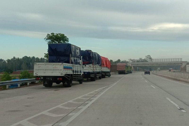 Hari ini ruas Terbanggi-Pematang- Kayu Agung belum dibuka untuk kendaraan umum