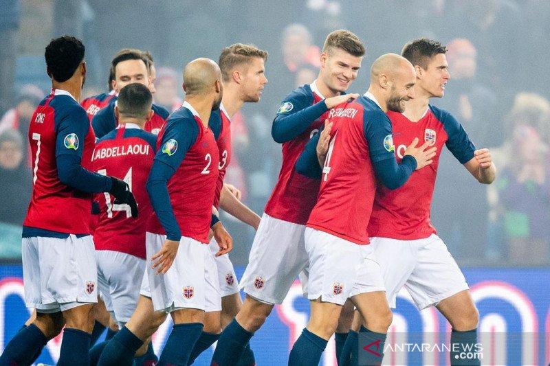 Norwegia menang, tapi masih ditentukan hasil Swedia vs Rumania