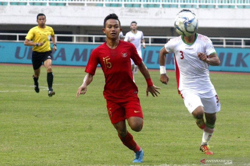 Gol Sani membawa timnas U-22 Indonesia ungguli Vietnam 1-0 babak pertama