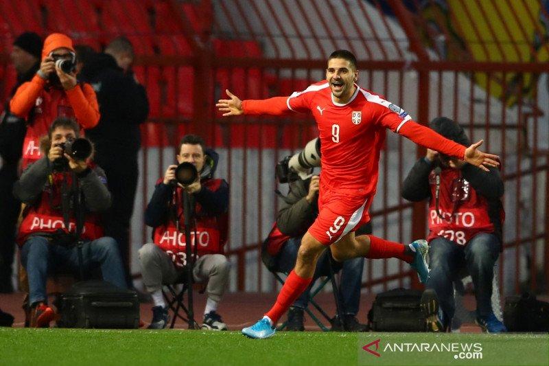 Diimbangi Ukraina, Serbia terpaksa lewat jalur playoff