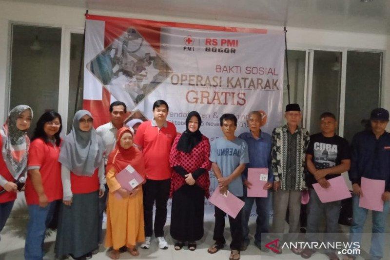 RS PMI Bogor menggelar operasi katarak gratis untuk puluhan warga