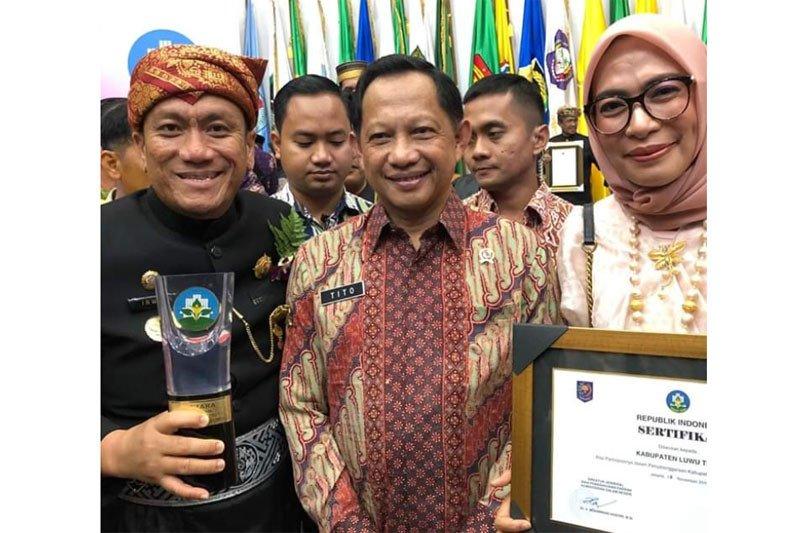 Pemkab Lutim raih penghargaan kabupaten sehat kategori Swasti Saba Wistara