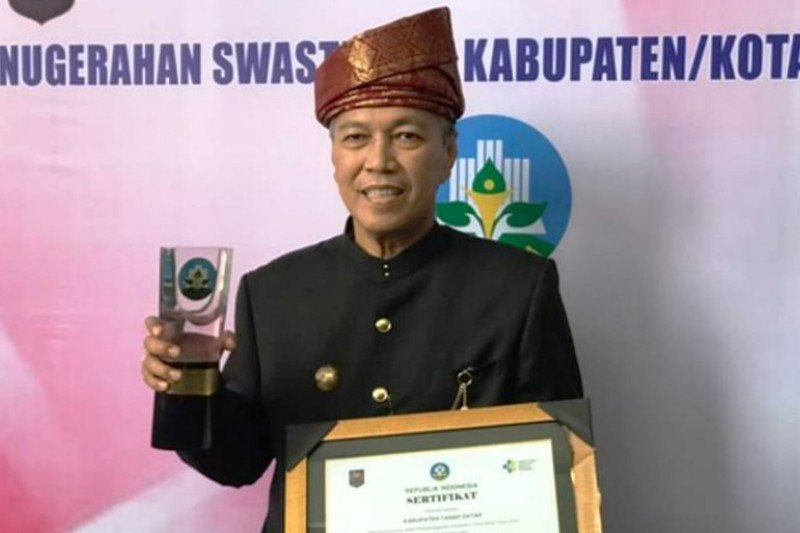 Tanah Datar  won the award Swasti Saba Wistara