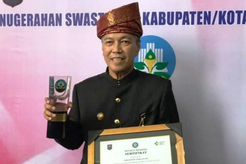 Wujudkan kabupaten sehat, Tanah Datar raih penghargaan swasti saba wistara