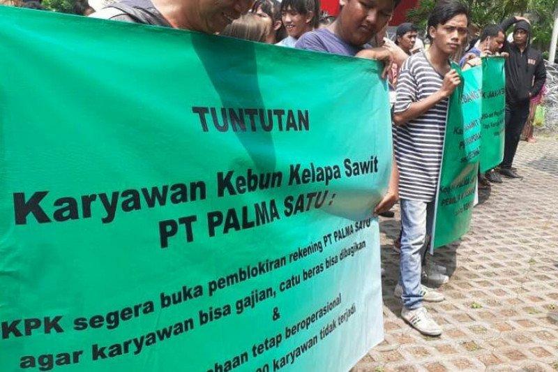 Karyawan Palma Satu demo minta blokir rekening perusahaan dibuka