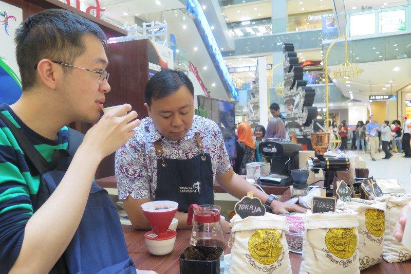Kopi salah satu produk andalan pelajar Indonesia di Nanjing