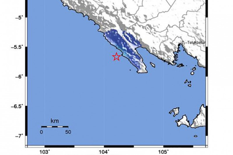 Tak berpotensi tsunami gempa magnitudo 4,0 di Lampung Barat, kata BMKG