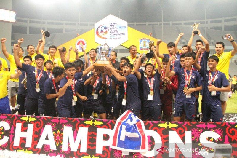 Tim Thailand pertahankan gelar Kejuaraan Sepak bola Pelajar Asia